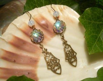 Mermaid Light - handmade Earrings