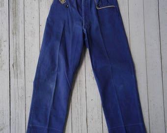 50's Pants Boy Scout Cub Scout Pants Blue Cotton Small