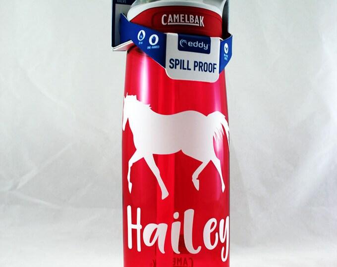 Personalized .75L Camelbak Eddy Bottle - Horse, Name , Water Bottle, Hydrate, Custom, Bottle, Horse, Magic, Rainbow