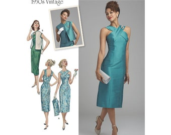 8448 Simplicity, Evening Gown, Party Dress, Vintage Style, Slim Dress, Crossed Straps, 50's Vintage, 50's Style,