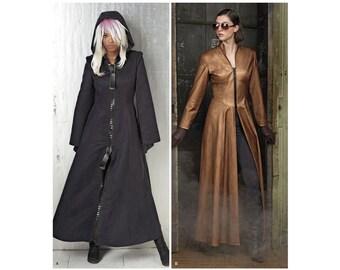 8482, Simplicity, Women's Duster Trench Coat Colared Coat Full Length Coat Matrix, Gambit, Bat Woman, Steampunk, Vampire, Vampiress, Trinity