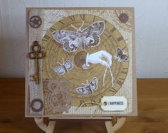 Steampunk Birthday Card, for Husband, Son, Dad, Grandad, etc