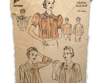 Advance 2157 Bed Jackets Pattern CUT
