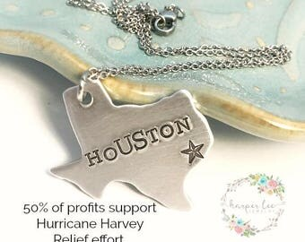 Hurricane Harvey Relief Fund ~ Texas Strong Necklace ~ Stronger than the Storm ~ Houston Relief