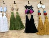 Earrings with Long Tassel...