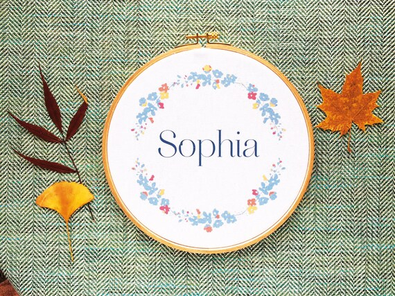 Framed Name, Ref Sophia, custom, Wooden frame, vintage frame, gift baby, bedroom setting, name of your choice, gift coworker, novelty.