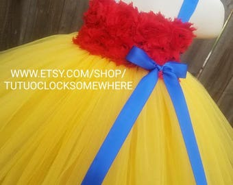 Customizable Snow White Inspired Tutu Dress, Snow White Tutu, Snow White Dress, Snow White Costume, Snow White Birthday, Princess Dress
