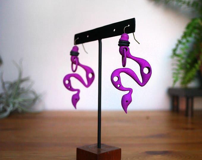 """""""Venom"""" Earrings in Purple"""