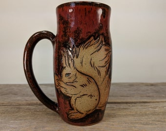 Squirrel Mug - 16oz - Enchanted Forest - Forest Animal - Woodland Creatures - Gift for Nature Lovers - Nature Inspired - Mesiree Ceramics
