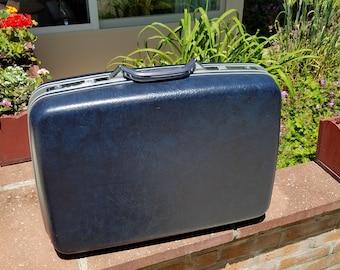 Vintage Blue Samsonite Profile II Profile 2 With Garment Divider Samsonite Blue Suitcase Samsonite Blue Luggage Samsonite Luggage