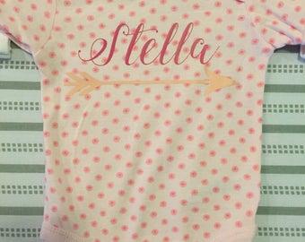 Custom Baby Name Bodysuit