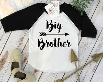 Big Brother Shirt, Brother Baseball Shirt, Brothers Shirts, Big Brother ARROW, Promoted to Big Brother, Brothers tees, Big Brother Reveal