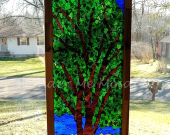 Stained Glass Mosaic - The Colors of Spring