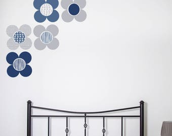 Wall Sticker Mod flowers - Decals - Floral Decals - home Decor - Home Improvements - Flower Wall Stickers