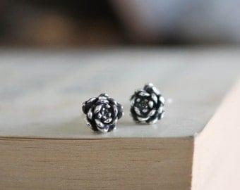 Sterling Silver Succulent Earrings - succulent earrings - botanical earrings - plant earrings - succulent jewellery - succulent stud earring