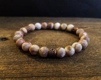 Boho Bracelet, size 6, Beaded Bracelet, Gemstone Bracelet