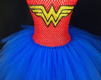 Wonder Woman Inspired Tutu Dress, Wonder Woman Tutu Dress, Superhero tutu, Superhero Tutu Dress. Wonder Woman Costume, Wonder Woman Tutu