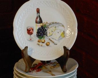 Six Berry Haute Porcelaine Decorative Limoges Bread Plates
