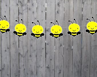 Bee Banner, Bumble Bee Banner, Bee Garland, Bumble Bee Garland, Bee Baby Shower Banner, Bee Birthday Banner, Bee Decorations