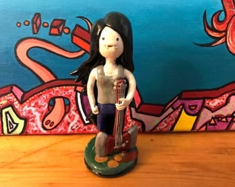 Adventure Time Marceline with Guitar Inspired Sculpture