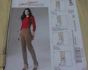 UNCUT #M6440 McCall's Fashion That Fits Misses Pants Pattern Size A5 (6-8-10-12-14)  Palmer Pletsch  2011