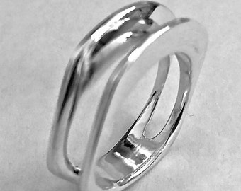 Sterling Silver Ring Two in One Bands