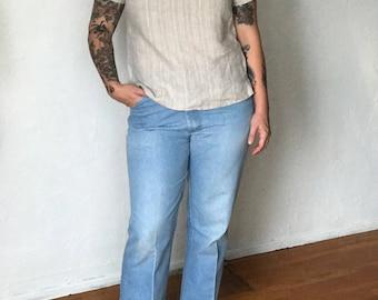Vintage Wranglers Light Wash Denim Straight Leg Jeans