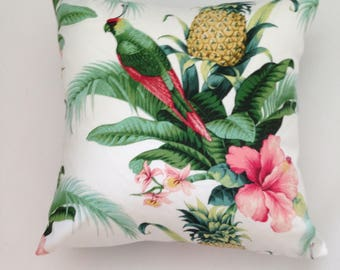 "Floral,Bird Print  Pillow Cover 18""x 18"""