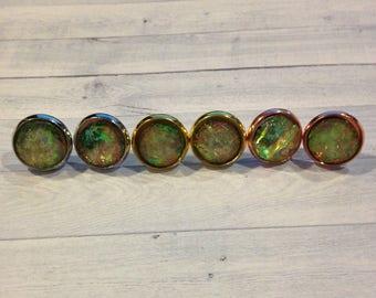 Gray Opal Stud Earrings, Grey Fire Opal Studs, Fire Opal Jewelry, Fire Opal Earrings, Gray Fire Opal Earrings, Fire Opal Clip On Earrings