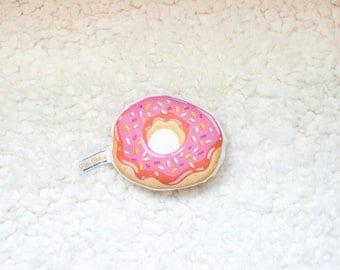 Organic Donut Rattle / Pillow - Baby Toy / Baby Gift / Teething Toy / Plushie / Stuffed Animal / Organic Baby Toy