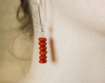 Sundrop earrings, sundance style jewelry, sundance style earrings, sundance earrings, carnelian earrings, gemstone earrings, boho, folk