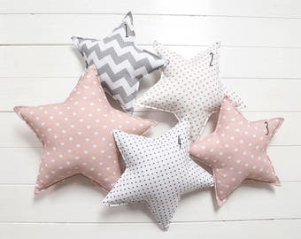 Star Pillow Star Shaped Pillow Star Nursery Star Decor Kids Pillow Star Cushion Decorative Star Pillow Star Nursery Decor
