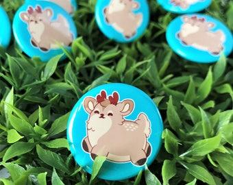Kawaii Deer Pinback Button or Magnet - ( buttons pin pins cute flair )