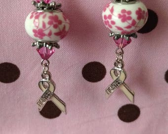 In the Fight Against Breast Cancer Earrings