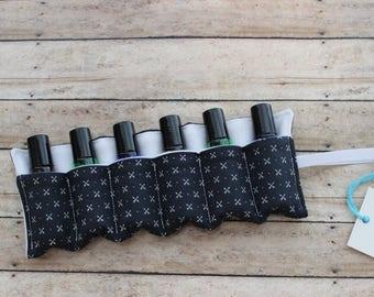 Grey Arrows Essential Oil Rollerball Case - essential oil travel bag - essential oil storage - essential oil carrier - roller bottle case