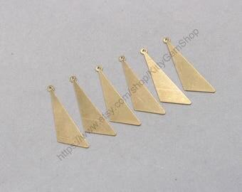 20Pcs, 42mm  Raw Brass Slice Pendants Charms Wholesale Handmade Craft Supplies ZR-7825