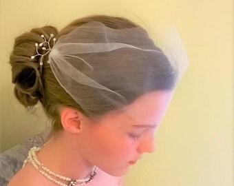 Bandeau Veil, Bridal Veil, Pearl Veil, Birdcage Veil, Crystal Veil, Pearl and Crystal Veil, Short Veil, Wedding Veil