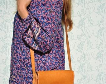 Leather purse, vintage leather purse, brown leather purse, simple leather purse, leather shoulder bag, vintage leather purse, leather purse