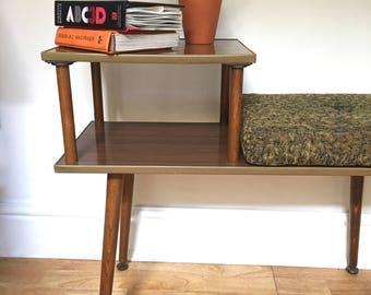 Retro Telephone Table,Hall Table, Mid Century Design,1960s,1970s