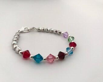 Swarovski Crystal Birthstone Bracelet - FREE shipping
