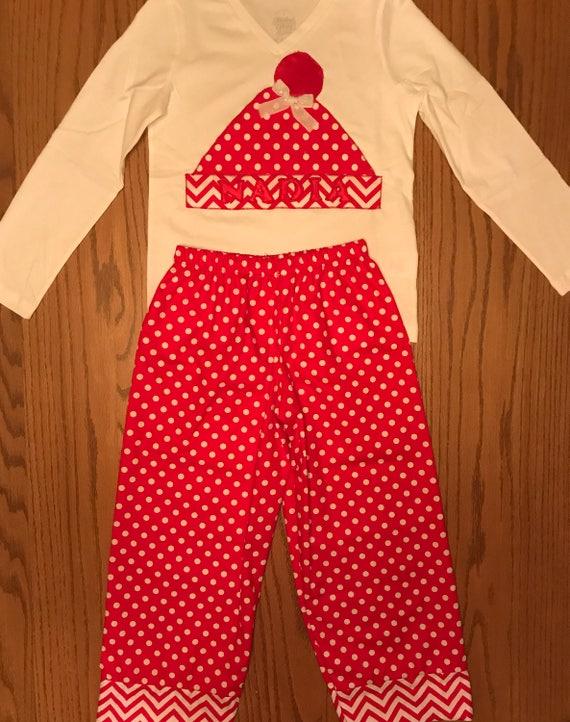 Monogram Christmas pajamas,personalized Christmas pajamas,matching Christmas pajamas,kids matching Christmas pajamas,cotton Christmas pajama