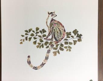 STUDIO SALE Lemur Giclée Print