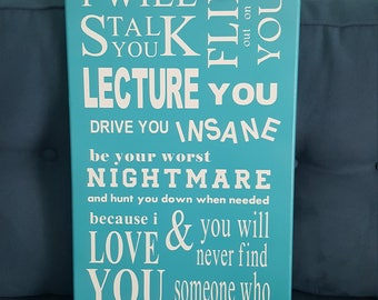 A Parents Promis hand painted sign