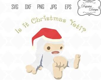 Christmas Yeti SVG, christmas svg, snowflake svg, winter svg, holiday clip art, merry christmas clipart, cricut cut files, reindeer svg