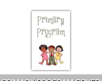 "Primary Program Primary kids program cover 8.5""x11"""