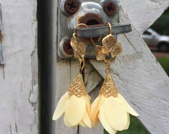 Yellow Tulip Earrings