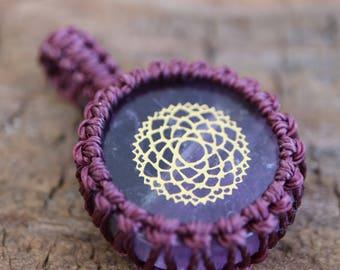 Amethyst Macrame Pendant / Purple Stone Pendant