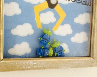 Lego Toy Story Aliens 'I have been chosen!' Inspired Mini Figure Framed Decor