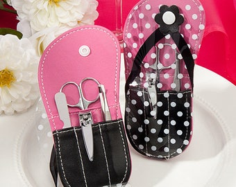 Flip Flop Design Manicure Sets - Wedding Bridal Shower Party Favor 20-72 Qty  FC5956