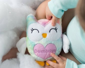 Easter Gift for Niece, Personalized Toddler Gifts, Owl Plush, Stuffed Owl for Toddler